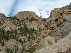 Rock Climbing Photo: Photo taken from the top of Subskull. The approach...