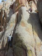 Rock Climbing Photo: Rapping off Maiden (and checking out crack to the ...