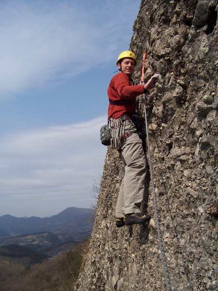 Rock Climbing Photo: A second pitch at Albawi. . . excellent views!