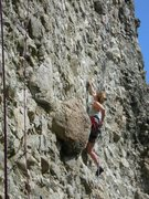 Rock Climbing Photo: The easiest route --¿ì¸®³¢¸®	5.10b-- at th...