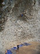 Rock Climbing Photo: Dave does the Maisan Tango, 5.11b.