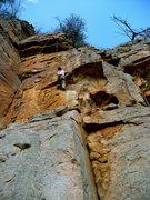 Rock Climbing Photo: Scott climbing Love Handle, T-Wall.