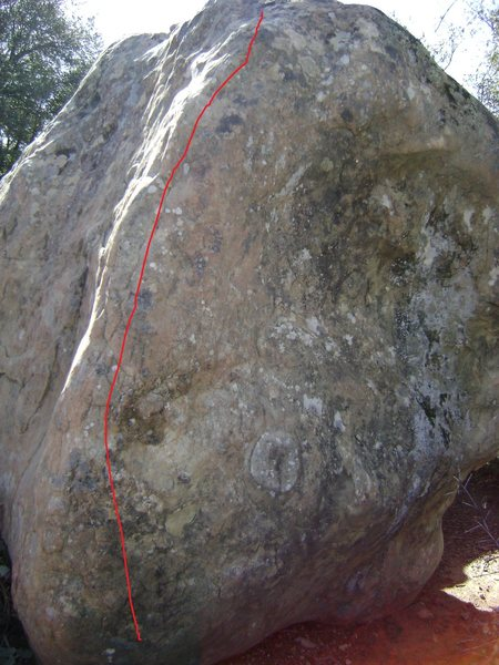 Nice holds when you grab the left side of the arete