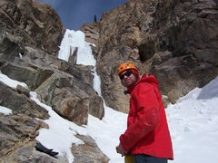 Rock Climbing Photo: The second step of ice, here in WI4+ conditions.  ...