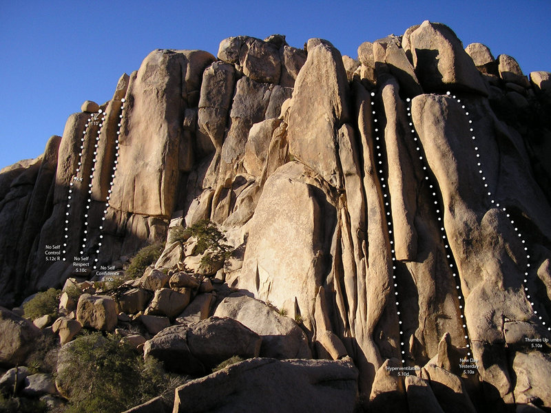 The Flying Fortress, Joshua Tree, CA<br> <br> If you're looking for wide cracks and sunny exposure, this is the place to be.