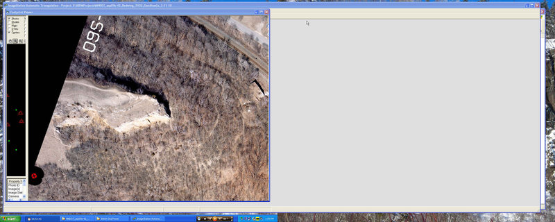 Barn Bluff aerial photo dated 4-08-09.  I am working on mapping project for MNDOT in Red Wing area that encompasses Barn Bluff.  Zoom in and you see a climber.  Is it you?