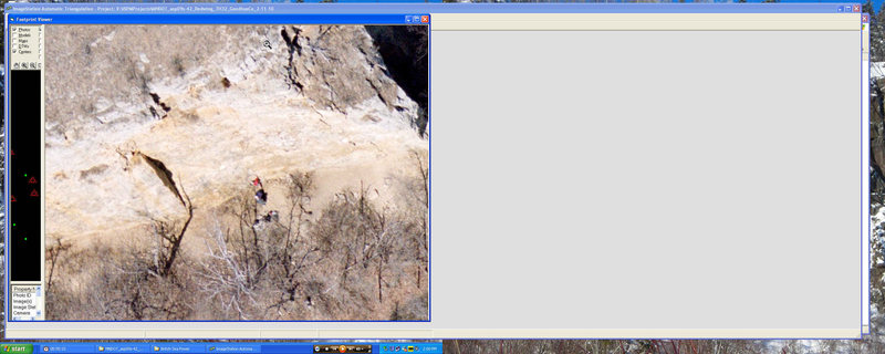 There the climber is in red shirt?  Aerial photo dated 4-08-09.  Maybe this climber is you?