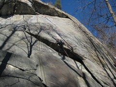 Rock Climbing Photo: Leading into the business with two ropes, lowe bal...