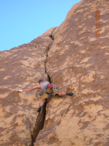 Rock Climbing Photo: Ample face holds make this pretty mellow