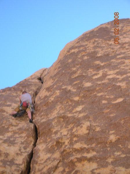 Rock Climbing Photo: Finishing up