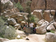 Rock Climbing Photo: my wife and dad finding some shade at the base on ...