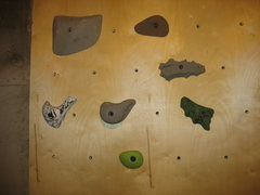 Rock Climbing Photo: the two problem holds are the ones that are shped ...