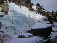 Rock Climbing Photo: The falls as seen from just downstream.