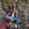Luke Childers on &quot;Trainspotting V12.&quot;  Castle Rock, Boulder Canyon, Colorado.<br> <br> Photo by:  Nathan Fox & friend.