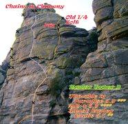 Rock Climbing Photo: Rupley Tower D topo