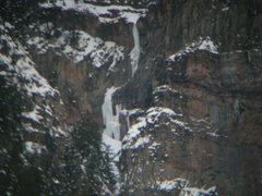 Rock Climbing Photo: Oak Creek Falls as seen through a pair of binocula...
