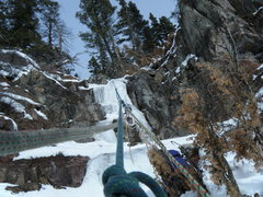 Rock Climbing Photo: Looking up the top tier from the top of the top pi...