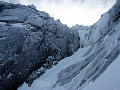 Rock Climbing Photo: The crux pitch.