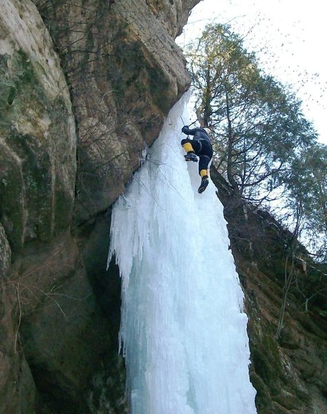 Rock Climbing Photo: Dirty Virgin' ice route in Wildcat Canyon.