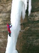 Rock Climbing Photo: Left side of Wildcat; ice known as the Dirty Virgi...