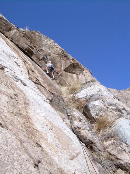 Rock Climbing Photo: Jeff M. on pitch 3 crux