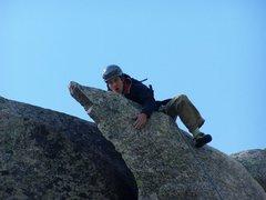 Rock Climbing Photo: Converse demonstrating the proper climbing techniq...