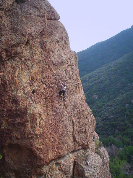 """Mary Lohrman enjoying the steep features of """"Intellitoys,"""" in the Test Site, at Echo Cliffs."""