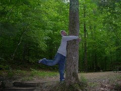 Rock Climbing Photo: tree hugger