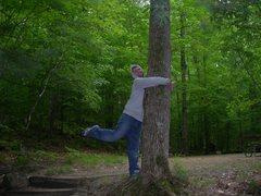 Rock Climbing Photo: tree hugger