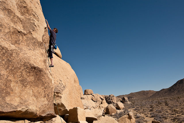 Rock Climbing Photo: Bruce Willey on Out on a Limb (5.10b) Photo by Kri...