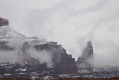 Rock Climbing Photo: Titan with snow