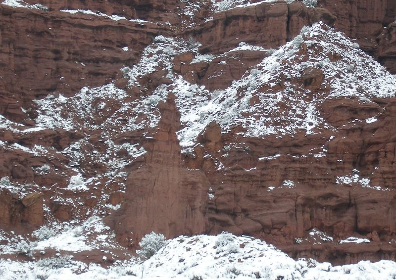 Rock Climbing Photo: Dunce Rock with snow