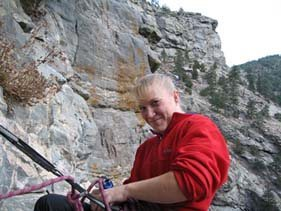 Belaying...with a smile of course