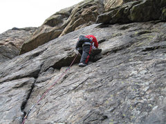 Rock Climbing Photo: On lead...not sure what climb in cc