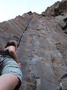 Rock Climbing Photo: High on CS