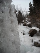 Rock Climbing Photo: Ice column looking upslope of formation