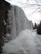 Rock Climbing Photo: Ice and mixed line at lower left side of formation