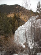 Rock Climbing Photo: View from trail showing part of the headwall, the ...