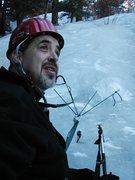 Rock Climbing Photo: V-Thread anchors at Silver Cascade Falls