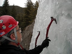 Rock Climbing Photo: Playing with the steep stuff along the headwall