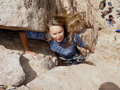 Rock Climbing Photo: Arm lock on a sport climb!