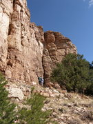 Rock Climbing Photo: Chompin' at the Cholla - a nice corner.