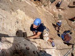 Rock Climbing Photo: Sarah leading.