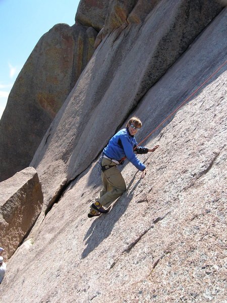 Rock Climbing Photo: Tristan on Cold Finger.