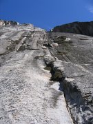 Rock Climbing Photo: Looking up from the first anchor(note the A shaped...