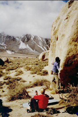 Rock Climbing Photo: Pressing Problem in Buttermilks