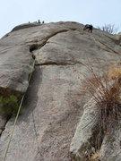 Rock Climbing Photo: John Tormalehto hiking the FA. 3-17-2006.