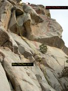 Rock Climbing Photo: Wake The Flake in red.  Wear The Flare in yellow.
