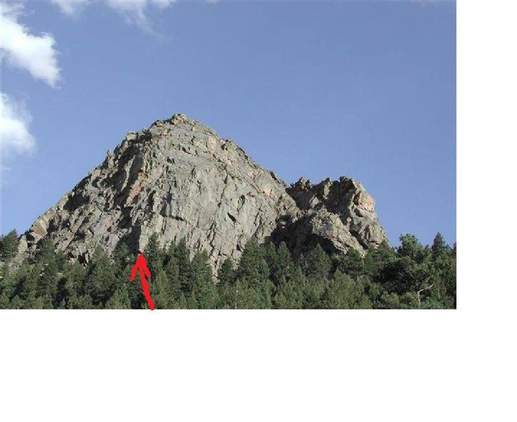 Approximate start of Lover's Leap Arete.
