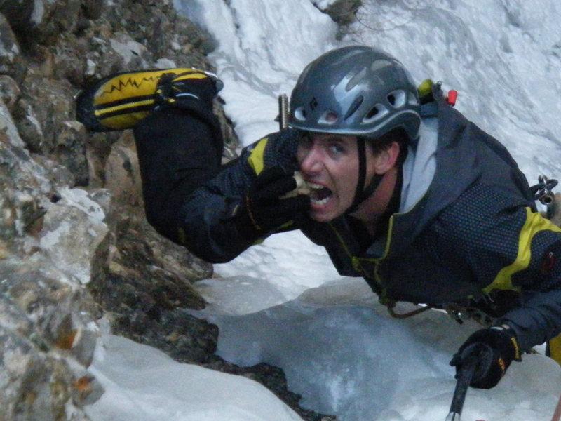 Rock Climbing Photo: Steve Berwanger crunching a cobble on Cobble Crunc...